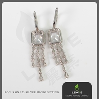 Made in China Guangzhou Wholesale Market 925 Silver Earrings