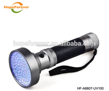 Rechargeable 365nm High Power UV most powerful led flashlight HF-A8806UV