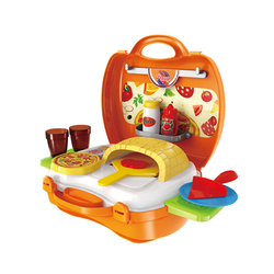 Funny pretend play pizza food toy set kitchen set toy for kids