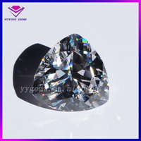 Fat Triangle Trillion Cut Cubic Zirconia White CZ Gemstones For Stainless Steel