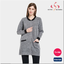 Family use ladies fancy long latest coat designs for women