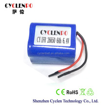Battery powered induction cooker, 6.4V 6Ah battery,6.4V lifepo4 rechargeable battery pack