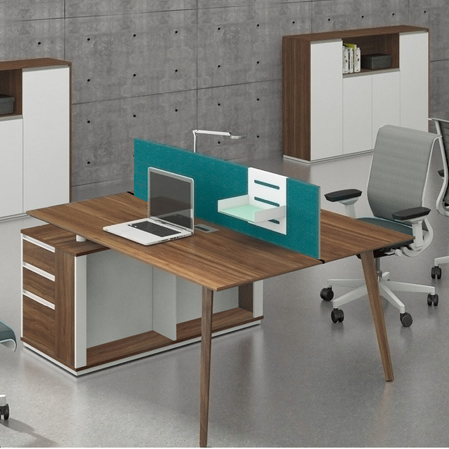 Simple Style 2 Person Office Workstation Desk Computer Workstation