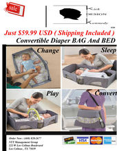 "CONVERTIBLE DIAPER BAG : A Beautiful ""Bag"" And "" Bed "" In One - Baby/Baby Names"