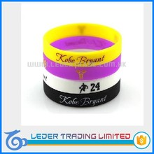 cheap custom printed silicone wristbands, colorful sport bracelet