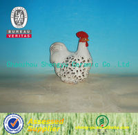 new style ceramic hollow out craft animal chicken