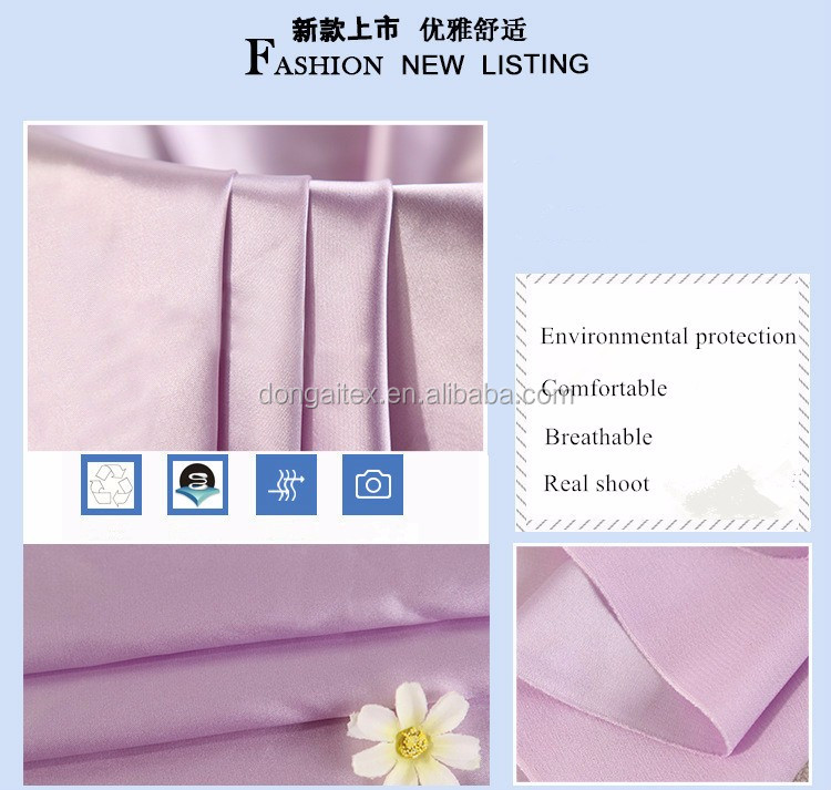 satin cloth nightgown nighty emulation silk fabric