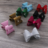 Bling Bling Fabric Bow Glitter Bow