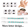 New Products 2016 Alphabet numbered Letters silicone beads