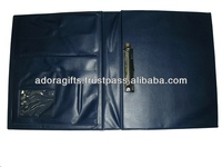 ADARB - 0176 mini ring binder with 2 rings / plastic file ring binder / small ring binder in blue color