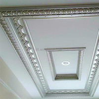 Factory sales home decorative pu crown mouldings/cornice roof