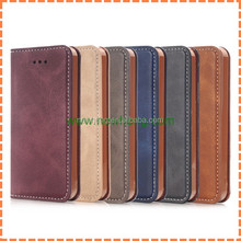 Crazy Horse Texture Flip Magnetic Wallet Leather Phone Case For Iphone SE