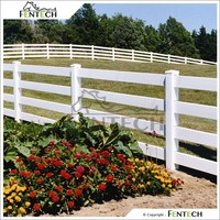 Made in China Fentech Black Durable Four Rail Cheap Vinyl Clad Fencing