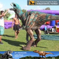 My-Dino realistic walking with T-Rex dinosaur costume