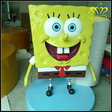 Great Quality Outdoor Life Size Resin fiberglass Cartoon SpongeBob SquarePants statues for Sale