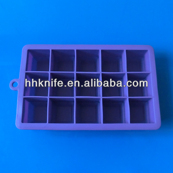 15 cups Silicone Ice Cube Tray,purple