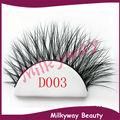 Milkyway D003 3D mink lashes 100% real siberian mink fur false eyelashes thick crossing strip lashes