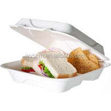 9 inch single use biodegradable food grade clamshell packaging