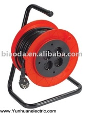 European style cable reels with extension cord, Europe wire coil with VED power cord