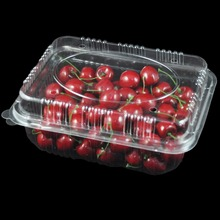 cherry plastic packaging box new desin fruit foldable plastic box for sales