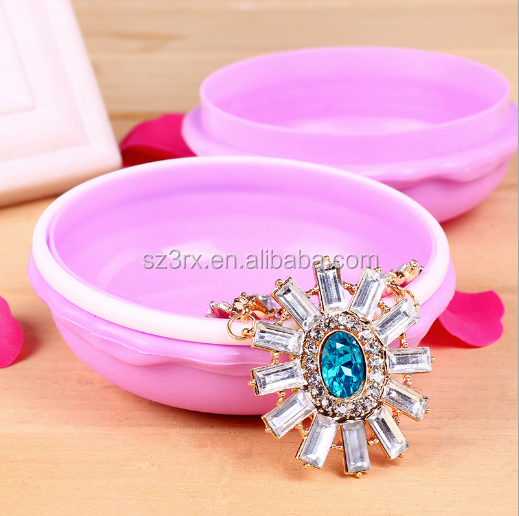 custom add logo small container/customized your own design lovely jewelry container made in China