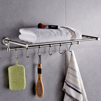 Stainless Steel Bathroom accessory Accessories doubleTowel Bar towel shelf towel rail with racks
