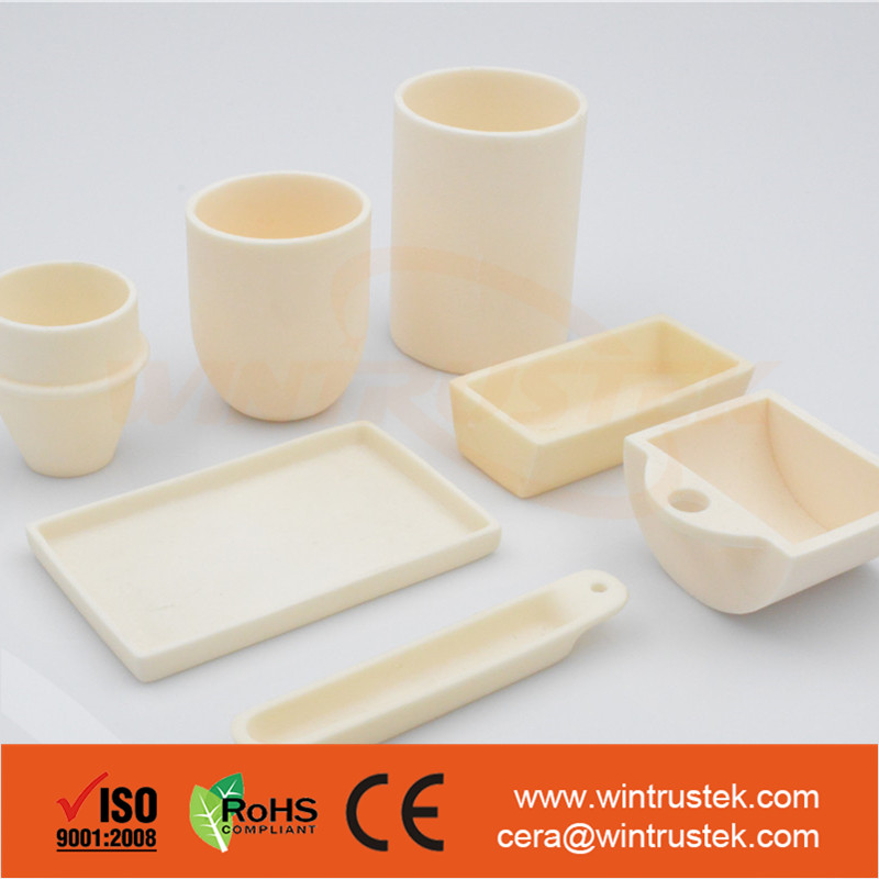 Refractory / Cylindrical / Conical / Ceramic Crucibles For Melting Platinum / Gold / Steel