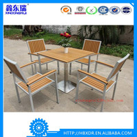Outdoor Patio Furniture Modern Aluminum Restaurant Teak Table Chairs