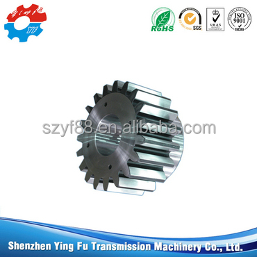 Low noise self-lubricating PA66 gears straight toothed spur gear