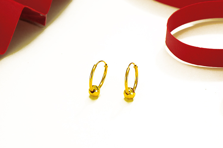 AE9032401 xuping simple plated 24 k gold jewelry+earrings saudi gold jewelry+huggie ear rings earrings jewelry