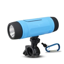 4 in 1 Bicycle Outdoor waterproof wireless BT speaker with 4000mah power bank with flashlight