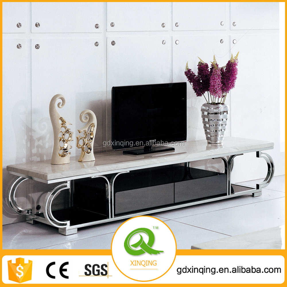 E144 New Design Low Price Marble Top LCD LED TV Stand Design Furniture