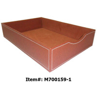 leather paper tray