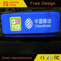 Plastic Vacuum Molded Digital Printed Logo LED Shop Sign Light Box for Outdoor Advertising