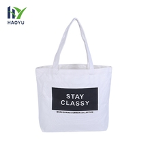 Wholesale promotional custom printed natural recycle canvas cloth carry tote shopping bag