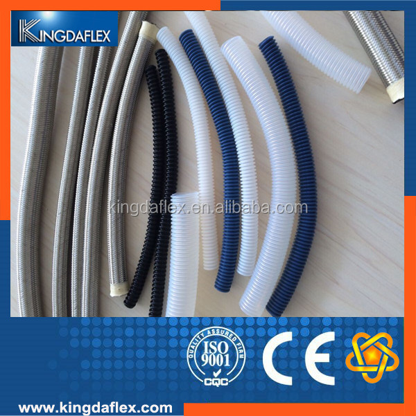 "Aging Resistant 1/4"" Stainless Steel Braided Teflon Hose Pipe for Toilet"