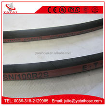 SAE 100R2AT/2SN Wire Braided Reinforcement Hydraulic Rubber Hose