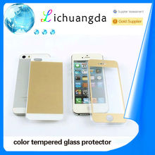 0.3mm for iphone 5 color tempered glass screen protector for iphone 5
