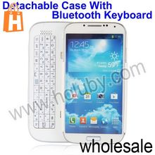 Sliding PC+Metal Wireless Bluetooth Keyboard+Case for Samsung Galaxy S4 SIV i9500 i9505 i9508 with Stand