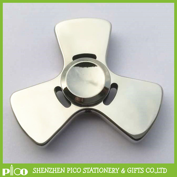 New Design High Quality 304 Stainless Steel Tri Fidget Spinner Toy Hand Spinner With R188 Bearing