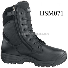 smooth cow leather rapid response unit tactical boots for police assault team