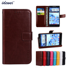 Luxury Flip PU Leather Wallet Mobile phone Cover Case For Lenovo P780 with Card Holder