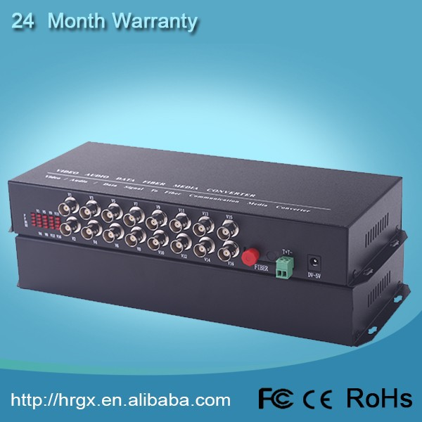 3 years warranty 16channels Fiber Video Multiplexer, PDH Multiplexer
