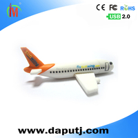 removable airplane shape usb flash drive 16gb usb pen drive plane usb pvc shell special U disk with customized logo