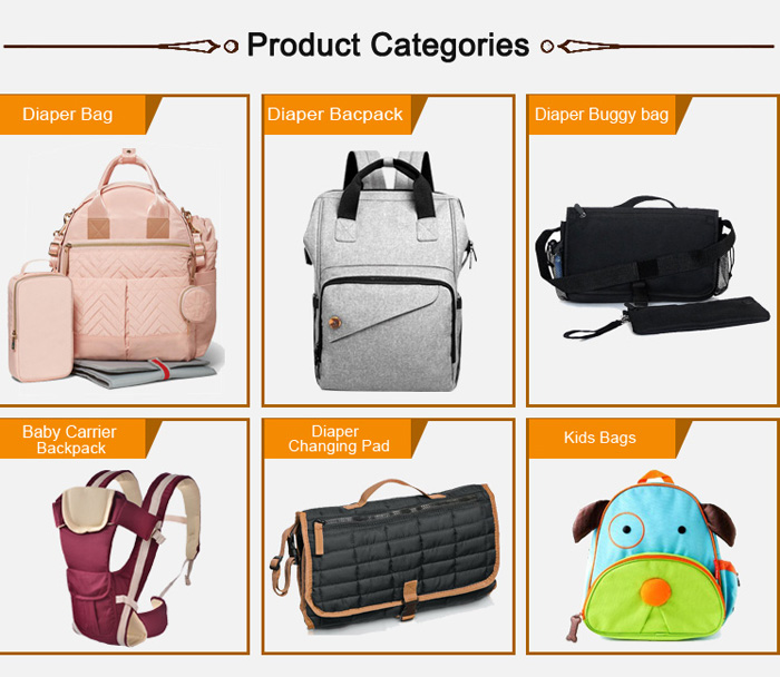custom waterproof diaper bag backpack with changing pad and stroller straps,high quality diaper nappy mommy bag travel baby bags