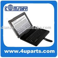 NEW for ipad ipad2 case cover with PU or genuine leather wireless bluetooth keyboard + pc fixer laptop case bag