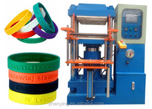 machine for rubber silicone bracelets mold custom silicon wristband/adjustable wristband CHINA debossed ink-filled wristband