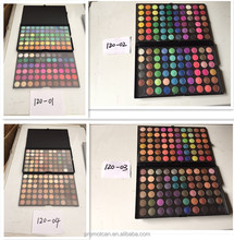 Free sample high pigment oem private label makeup suppliers china 120 colors palette eyeshadow pan