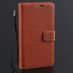 high class design OEM Price genuine leather soft case for samsung galaxy note 3 flip cover