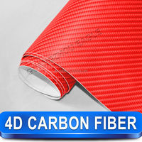 China New Products Well Quality Carbon Fiber For Auto/Hot Film Carbon Fiber Vinyl/4D Wool Carbon Film For Car Wrap